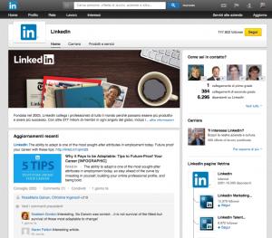 LinkedIn - pagine aziendali